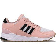 Buty sportowe damskie Adidas dla biegaczy eqt support z nubuku sznurowane bez wzorów