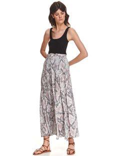 Długa spódnica w wężowy wzór