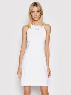 Calvin Klein Jeans Sukienka codzienna J20J216265 Biały Slim Fit