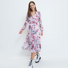 Mohito - Sukienka midi w kwiaty - Różowy