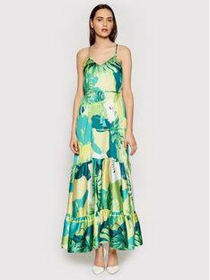 Guess Sukienka letnia Angelica W1GK1H WCX32 Zielony Regular Fit