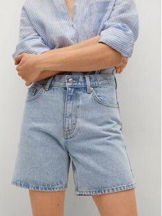Mango Szorty jeansowe Zaida 17060108 Niebieski Straight Fit
