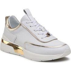 Buty sportowe damskie Eva Longoria sneakersy białe zamszowe