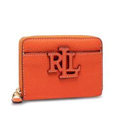 Mały Portfel Damski LAUREN RALPH LAUREN - Logo Zip Wlt 432836654004 Orange