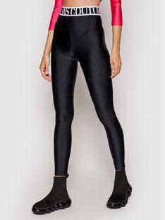 Versace Jeans Couture Legginsy Shiny Lycra Sumatra 71HAC101 Czarny Slim Fit