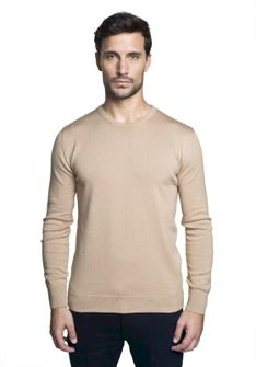 Sweter bawełniany beżowy Recman DARTON PM