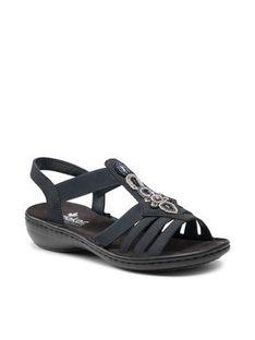 Rieker Sandały 60836-14A Granatowy