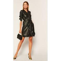 Sukienka Iblues czarna z długim rękawem dzienna szmizjerka