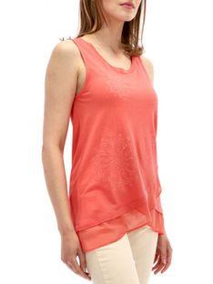 Asymetryczna czerwona bluzka Desigual SABADO