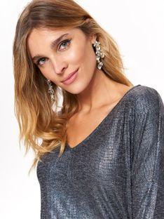Błyszczący sweter damski