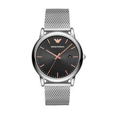 Zegarek EMPORIO ARMANI - Luigi AR11272  Silver/Silver