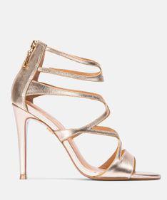 Złote sandały damskie
