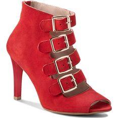 Sandały damskie Oleksy czerwony