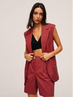 Mango Spodnie materiałowe Cherry 17092024 Bordowy Regular Fit