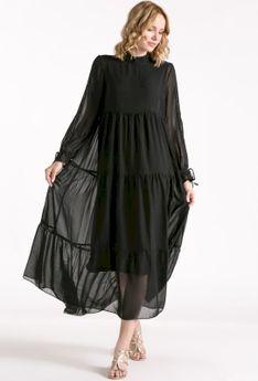 Obszerna sukienka maxi
