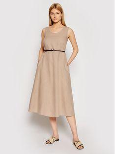 Max Mara Leisure Sukienka codzienna Nettuno 32210516 Brązowy Regular Fit
