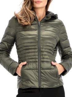 Zielona pikowana kurtka przejściowa KARA.700W19 Rino & Pelle