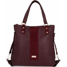 Shopper bag Conci mieszcząca a5 z zamszu