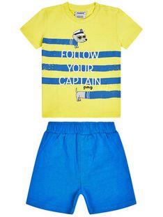 Primigi Komplet T-Shirt i szorty sportowe Sea Friends 45191031 Kolorowy Regular Fit