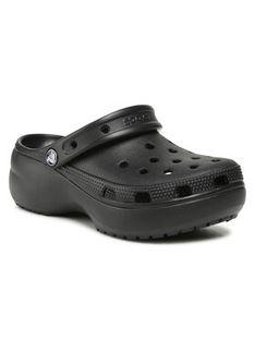 Crocs Klapki Classic Platform Clog 206750 Czarny