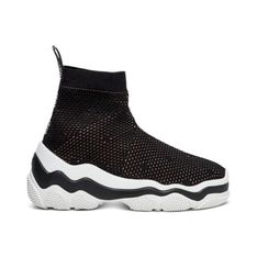 Stretch Pois d'Esprit knit Sneakers