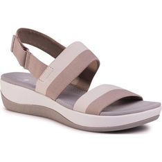 Sandały damskie Clarks bez wzorów na lato