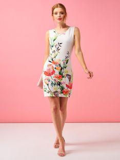 Biała sukienka w duże kwiaty Smashed Lemon 20124