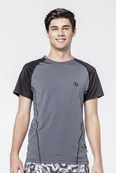 T-shirt grafit / czarny