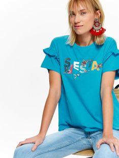 T-shirt damski z aplikacją