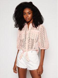 Guess Koszula W1GH0A WDVA1 Różowy Regular Fit