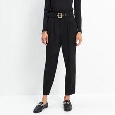 Mohito - Spodnie paperbag - Czarny