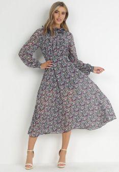 Granatowa Sukienka Siofra