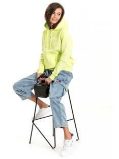 "Tommy Jeans ""Linear Logo Hoodie"" Green"