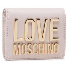 Mały Portfel Damski LOVE MOSCHINO - JC5612PP1CLJ010A Avorio