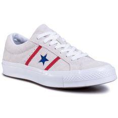 Tenisówki CONVERSE - One Star Academy Ox 164390C White/Enamel Red/Blue