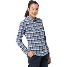 Koszula damska Autoryzowany Sklep Jack Wolfskin z kołnierzykiem
