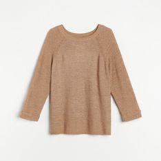 Reserved - Sweter z raglanowymi rękawami - Beżowy