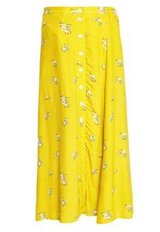 GAP - Spódnica trapezowa - żółty