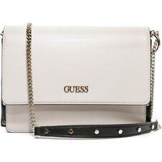 Listonoszka Guess mała na ramię biała elegancka