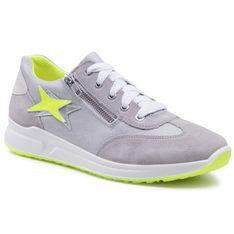 Sneakersy SUPERFIT - 1-006155-2500 D Hellgrau/Gelb
