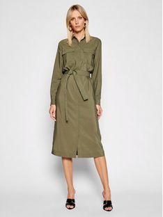 Pepe Jeans Sukienka koszulowa Isabella PL952929 Zielony Regular Fit
