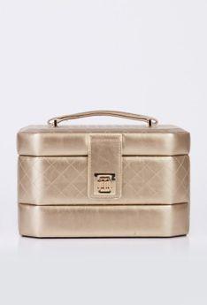 Duży elegancki kuferek na biżuterię