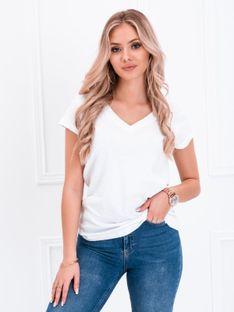 T-shirt damski basic 002SLR - biały