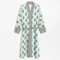 Reserved - Wzorzysta sukienka kimono - Wielobarwny