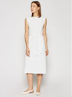 Marella Sukienka codzienna Bino 36210315 Biały Regular Fit
