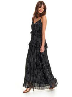 Sukienka maxi w groszki