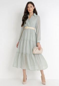 Miętowa Sukienka Stacy