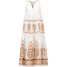Sukienka Kori wielokolorowa mini na lato casualowa luźna bez rękawów z haftem