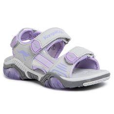 Sandały KANGAROOS - Sandalshine 18353 000 2099 Vapor Grey/Powder Purple