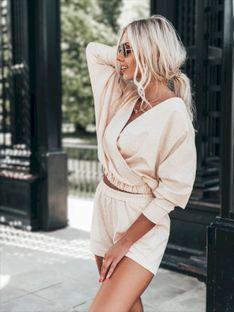 Komplet damski bluza + spodenki 008ZLR - różowy melanż
